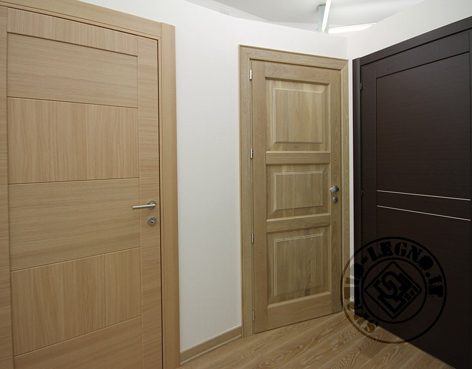 Showroom di porte interne portoncini di ingresso in legno e blindati - Porte interne rovere naturale ...