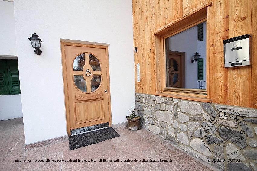 abbastanza Nostri portoni di ingresso in legno massello larice, abete e rovere VS17