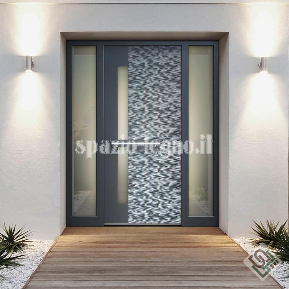 Portoni ingresso alluminio spazio legno srl - Portoni di casa ...