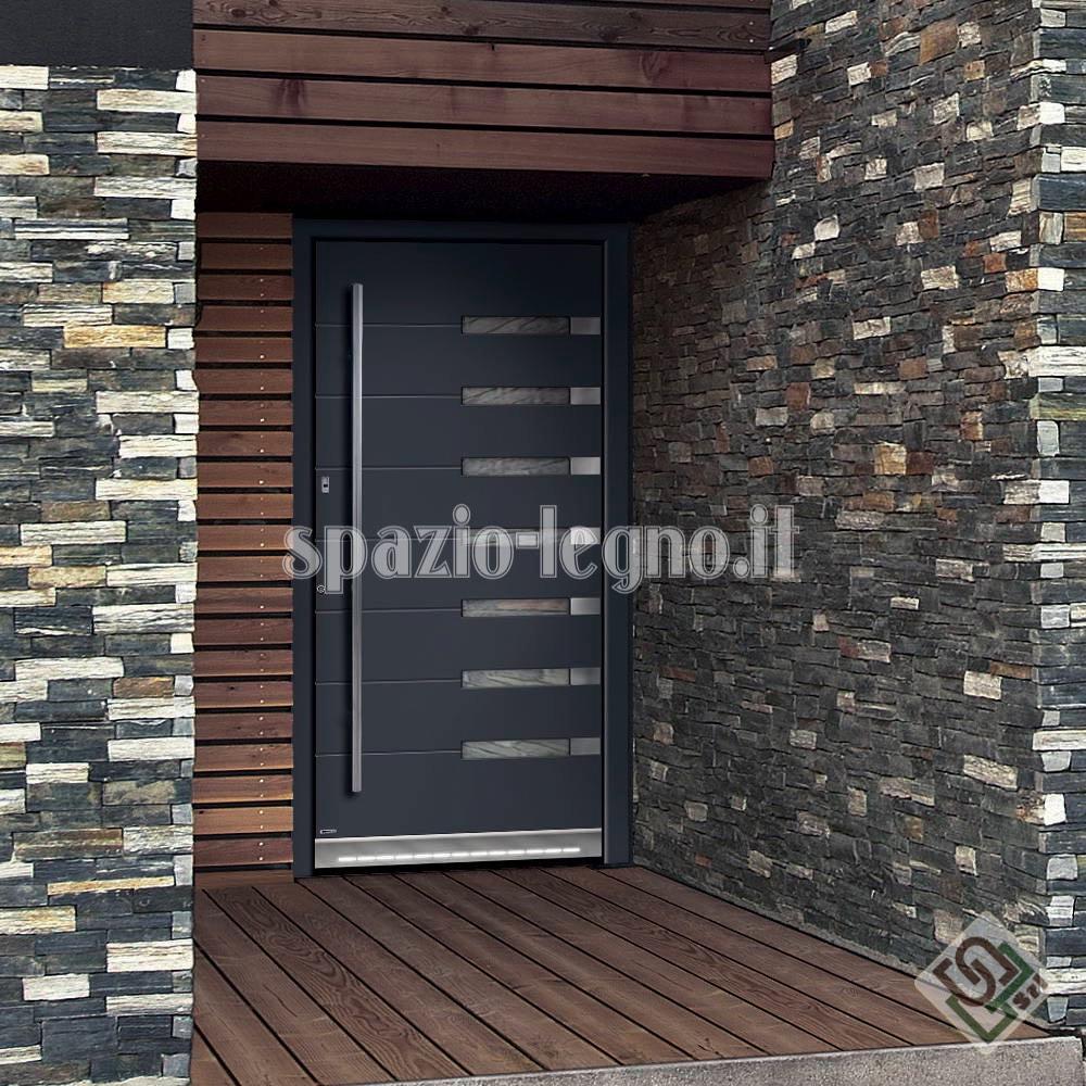 portone alluminio ingresso